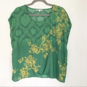 CAbi | Green Envy #597 Cap Sleeve Top